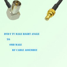 DVB-T TV Male Right Angle to SMB Male RF Cable Assembly