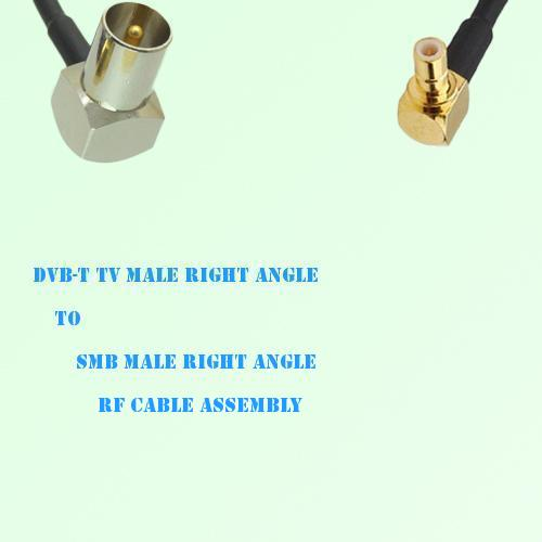 DVB-T TV Male Right Angle to SMB Male Right Angle RF Cable Assembly