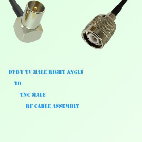 DVB-T TV Male Right Angle to TNC Male RF Cable Assembly