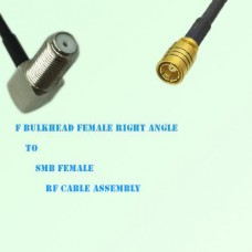 F Bulkhead Female Right Angle to SMB Female RF Cable Assembly