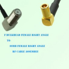 F Bulkhead Female R/A to SSMB Female R/A RF Cable Assembly
