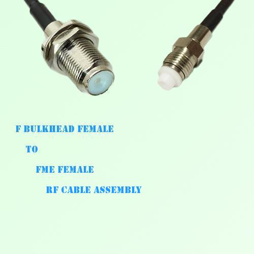 F Bulkhead Female to FME Female RF Cable Assembly