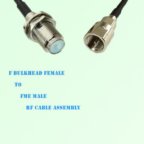 F Bulkhead Female to FME Male RF Cable Assembly