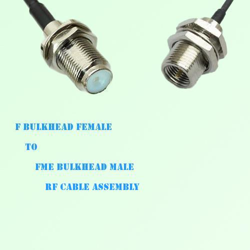 F Bulkhead Female to FME Bulkhead Male RF Cable Assembly