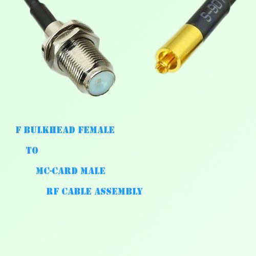 F Bulkhead Female to MC-Card Male RF Cable Assembly
