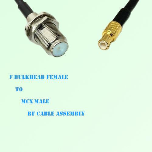 F Bulkhead Female to MCX Male RF Cable Assembly