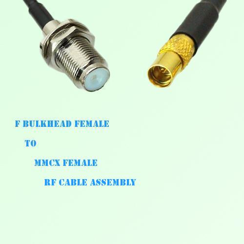 F Bulkhead Female to MMCX Female RF Cable Assembly