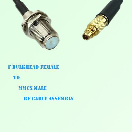 F Bulkhead Female to MMCX Male RF Cable Assembly