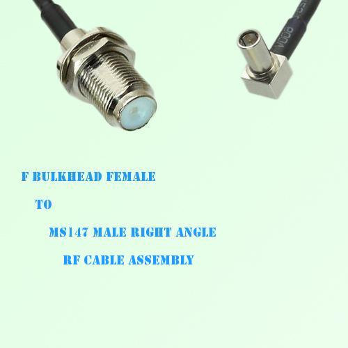 F Bulkhead Female to MS147 Male Right Angle RF Cable Assembly