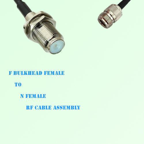 F Bulkhead Female to N Female RF Cable Assembly