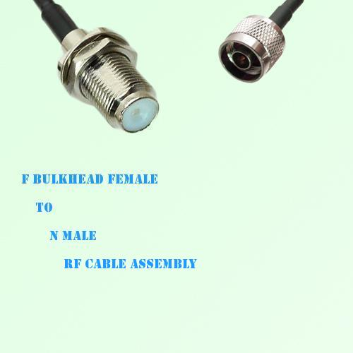 F Bulkhead Female to N Male RF Cable Assembly