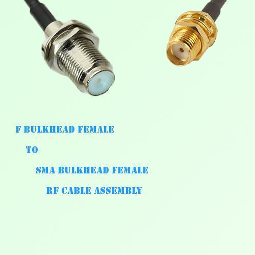 F Bulkhead Female to SMA Bulkhead Female RF Cable Assembly