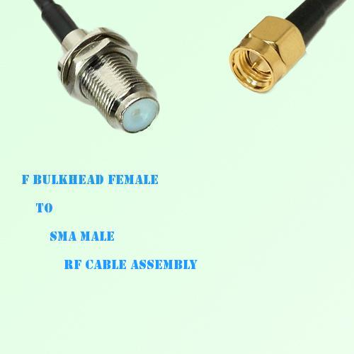 F Bulkhead Female to SMA Male RF Cable Assembly