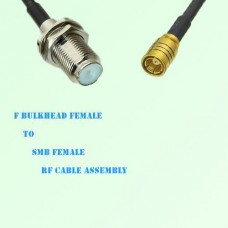 F Bulkhead Female to SMB Female RF Cable Assembly