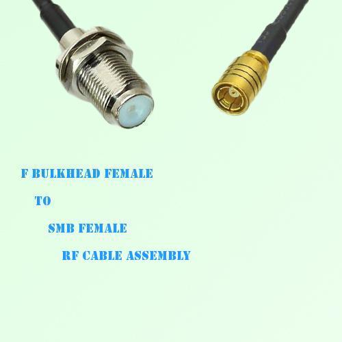 F Bulkhead Female to SMB Female RF Cable Assembly