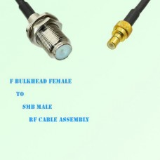 F Bulkhead Female to SMB Male RF Cable Assembly