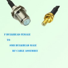 F Bulkhead Female to SMB Bulkhead Male RF Cable Assembly