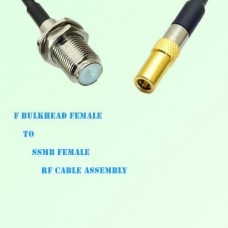 F Bulkhead Female to SSMB Female RF Cable Assembly