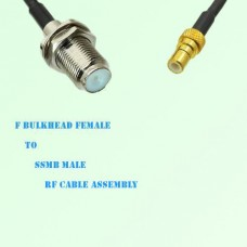 F Bulkhead Female to SSMB Male RF Cable Assembly