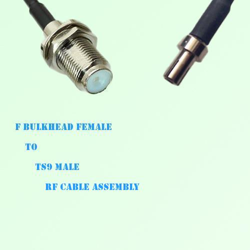 F Bulkhead Female to TS9 Male RF Cable Assembly