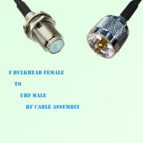 F Bulkhead Female to UHF Male RF Cable Assembly