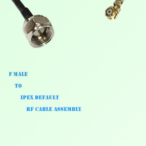 F Male to IPEX RF Cable Assembly