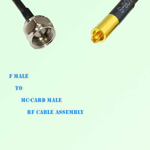 F Male to MC-Card Male RF Cable Assembly