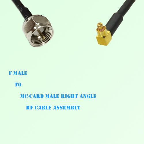 F Male to MC-Card Male Right Angle RF Cable Assembly