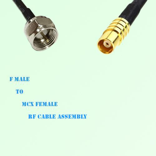 F Male to MCX Female RF Cable Assembly