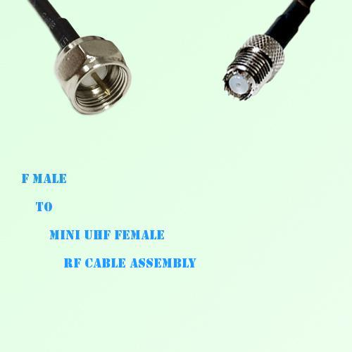 F Male to Mini UHF Female RF Cable Assembly
