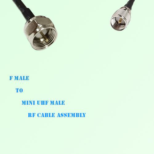 F Male to Mini UHF Male RF Cable Assembly
