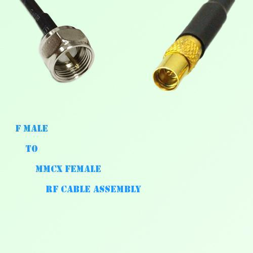 F Male to MMCX Female RF Cable Assembly