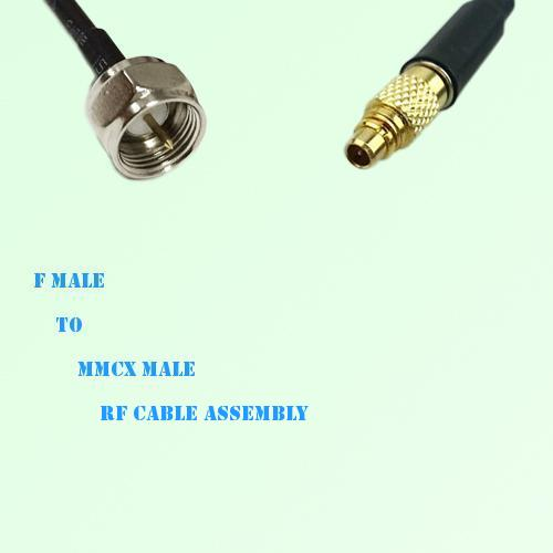 F Male to MMCX Male RF Cable Assembly