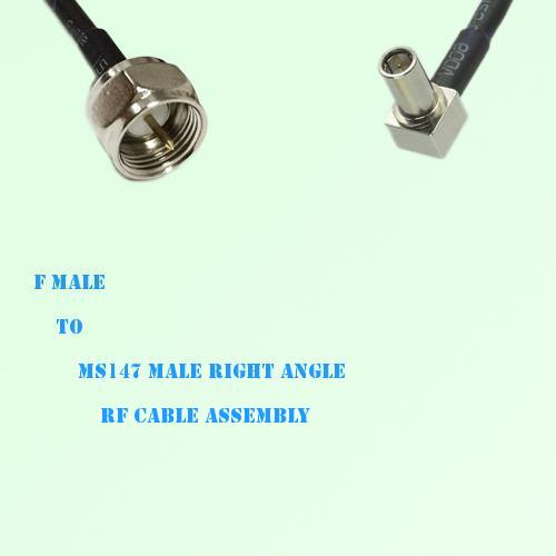 F Male to MS147 Male Right Angle RF Cable Assembly