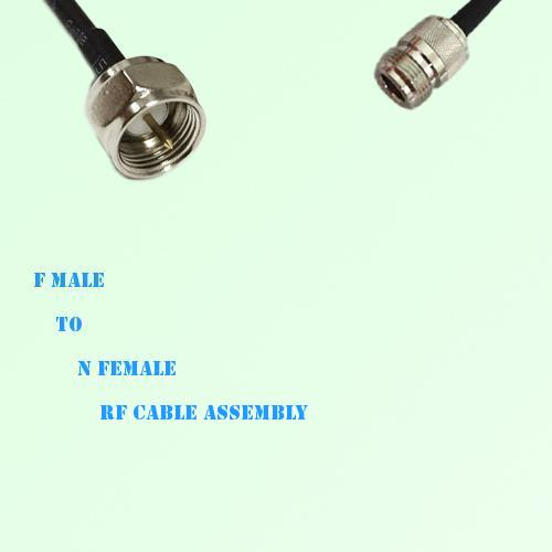 F Male to N Female RF Cable Assembly