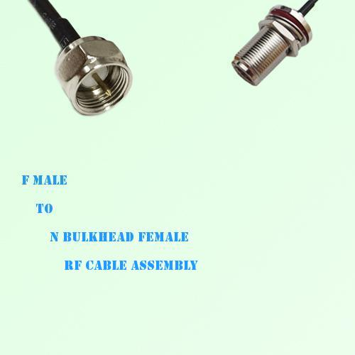 F Male to N Bulkhead Female RF Cable Assembly