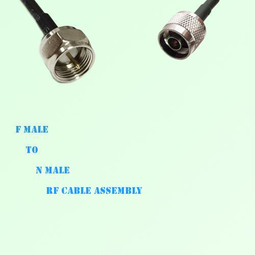 F Male to N Male RF Cable Assembly