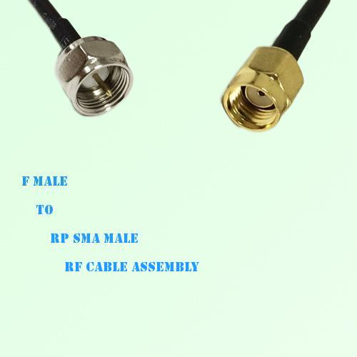 F Male to RP SMA Male RF Cable Assembly