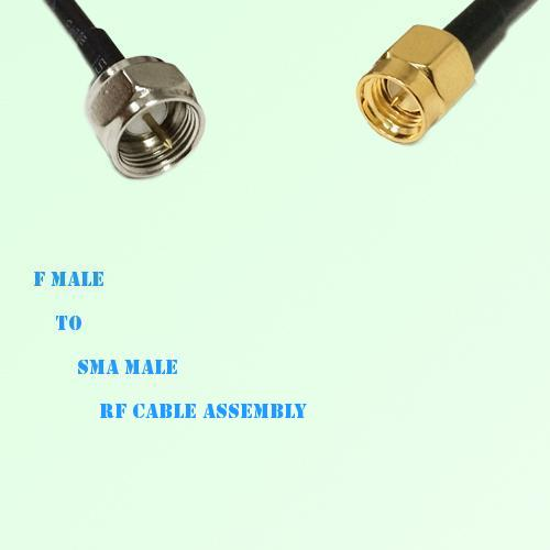 F Male to SMA Male RF Cable Assembly