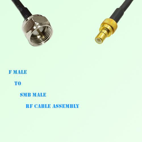 F Male to SMB Male RF Cable Assembly