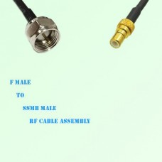 F Male to SSMB Male RF Cable Assembly