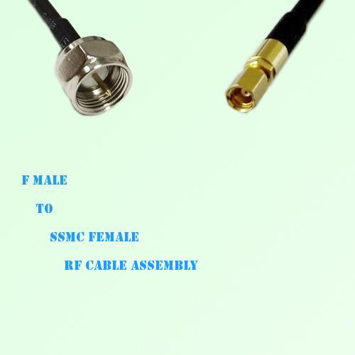 F Male to SSMC Female RF Cable Assembly