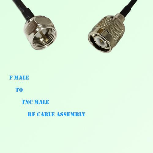 F Male to TNC Male RF Cable Assembly