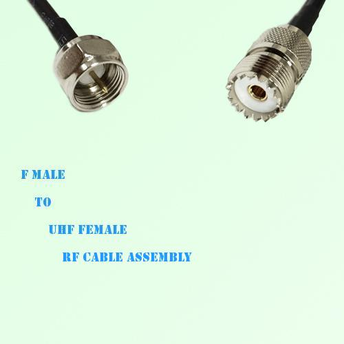 F Male to UHF Female RF Cable Assembly