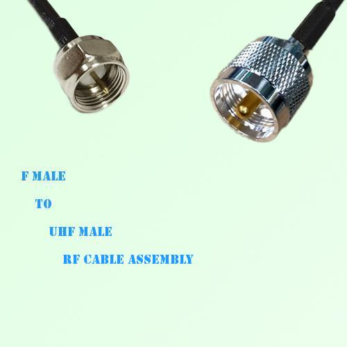 F Male to UHF Male RF Cable Assembly