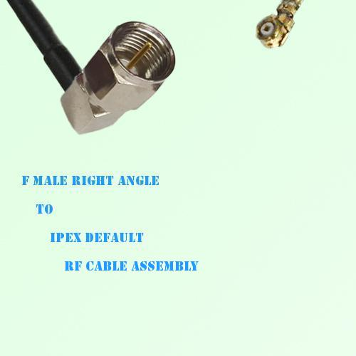 F Male Right Angle to IPEX RF Cable Assembly