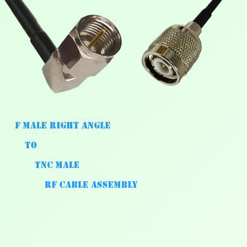 F Male Right Angle to TNC Male RF Cable Assembly