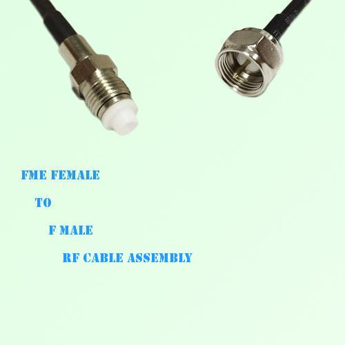 FME Female to F Male RF Cable Assembly