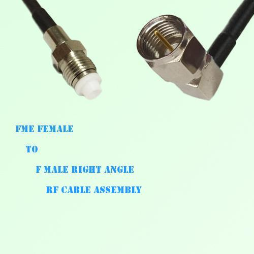 FME Female to F Male Right Angle RF Cable Assembly