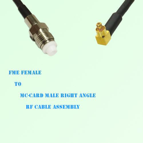 FME Female to MC-Card Male Right Angle RF Cable Assembly